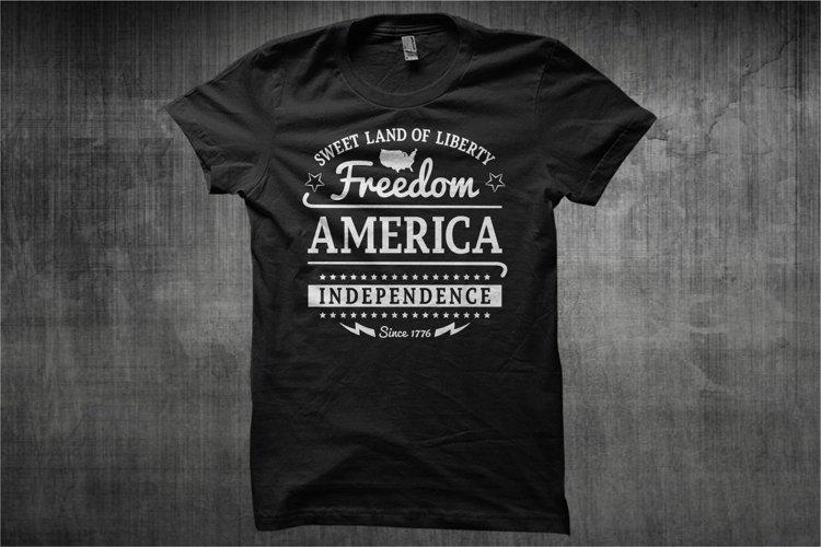 Typography American Themes - Freedom America