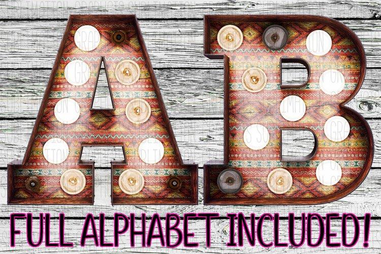 Tribal Marquee Alphabet example image 1