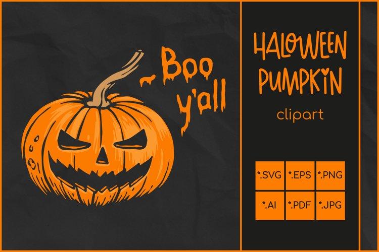 Halloween SVG, Pumpkin SVG, Jack O'Lantern clip art example image 1