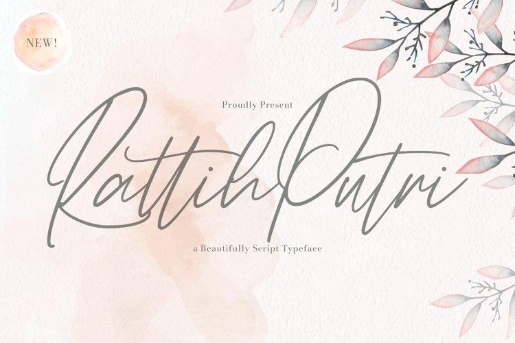 Rattih Putri - Handwritten Font example image 1