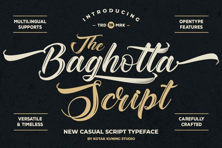 Vintage Script - The Baghotta Font example image 1