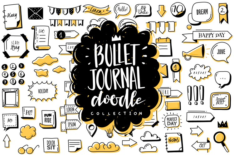 Bullet journal doodle collection