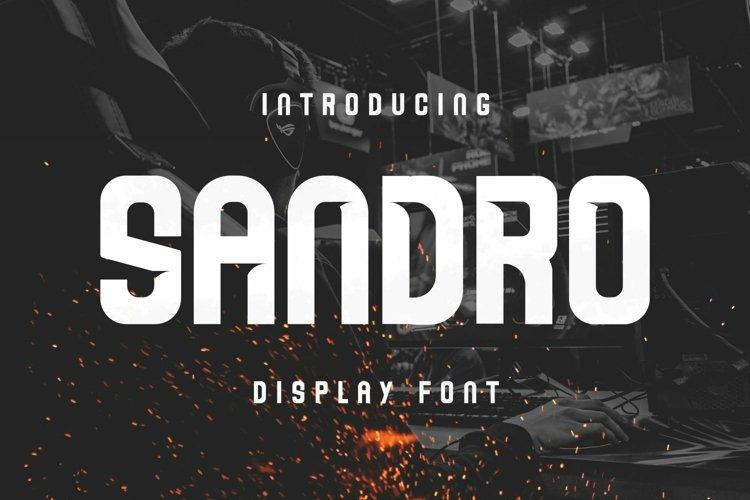 Web Font Sandro Font example image 1