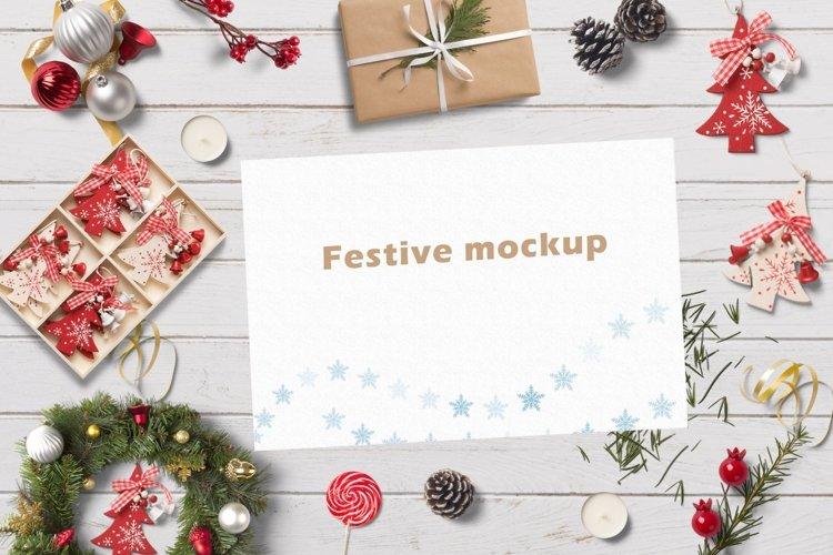 Festive christmas mockup example image 1