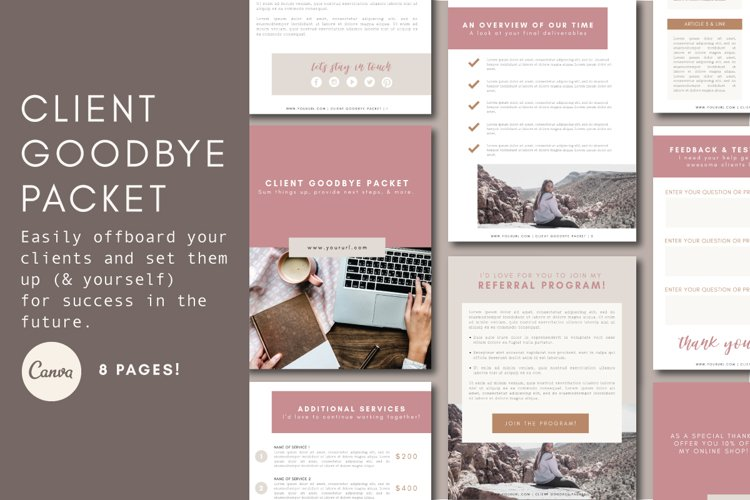 Client Exit Packet | Business Template | Goodbye Packet example image 1