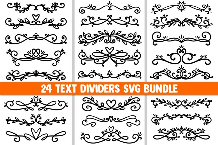 Text dividers SVG Bundle, floral svg, ornament svg, borders