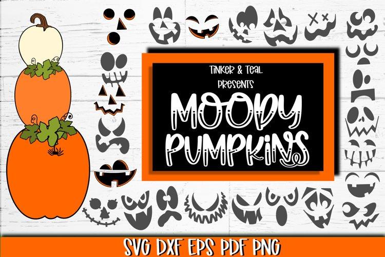 Moody Stackable Pumpkins SVG Bundle