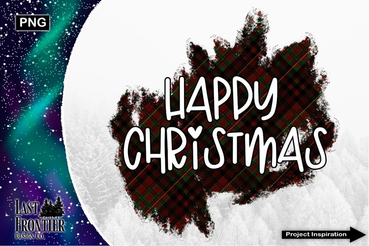 Happy Christmas Sublimation Design example image 1