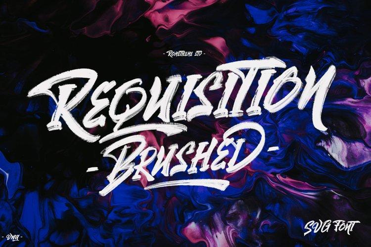 Requisition - SVG Brush Font VW example image 1