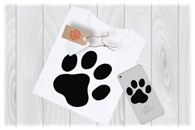 Dog Paw Print SVG Files for Cricut Designs example image 1