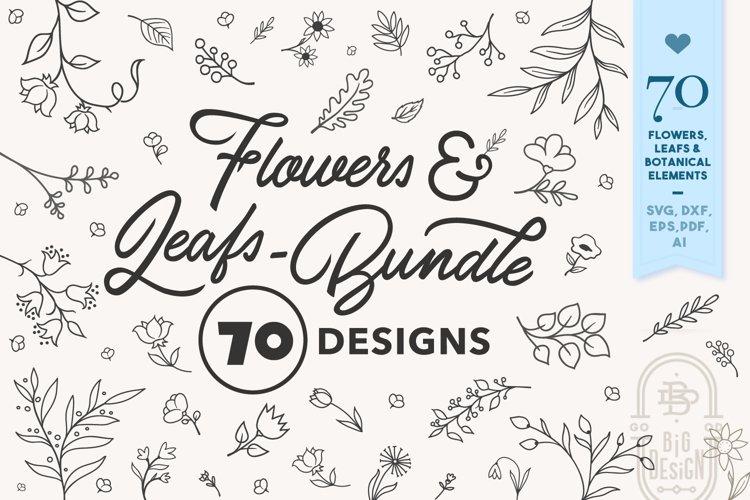 Flowers SVG Bundle | 70 Flowers, Leafs & Botanical Elements