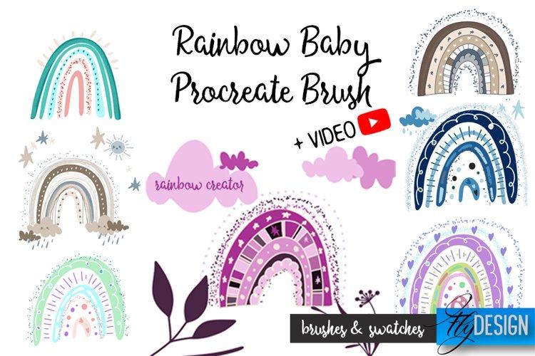 Rainbow Baby Procreate Brushes. Boho Rainbow Creator. Stamps