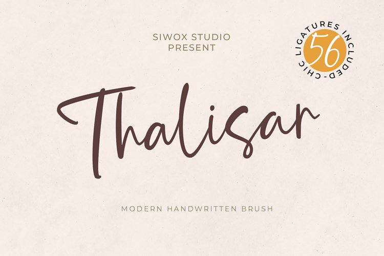 THALISAR - A Handwritten Font example image 1