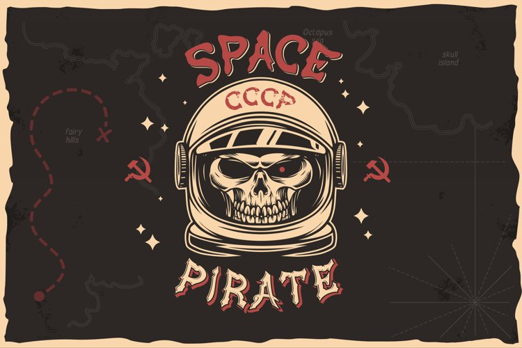 Space pirate T-shirt Design