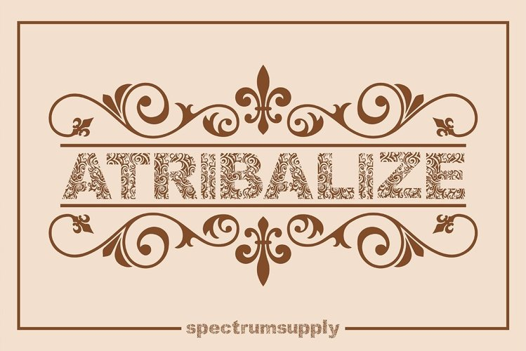 Atribalize Typeface With Illustrator And Border example image 1