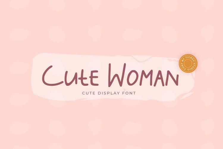 Cute Woman - Handwritten Display Font example image 1