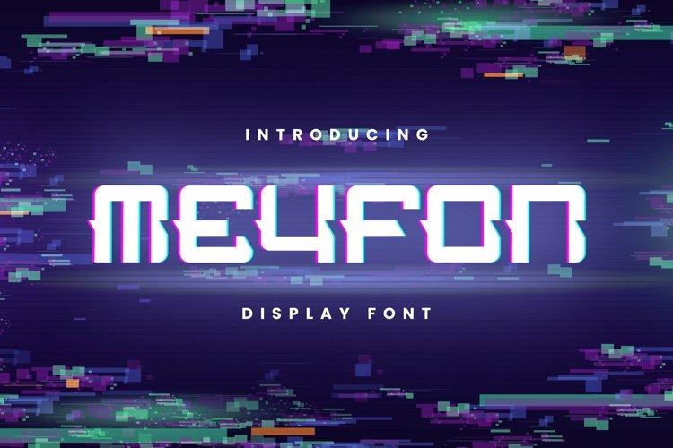 Web Font Meyfon Font example image 1