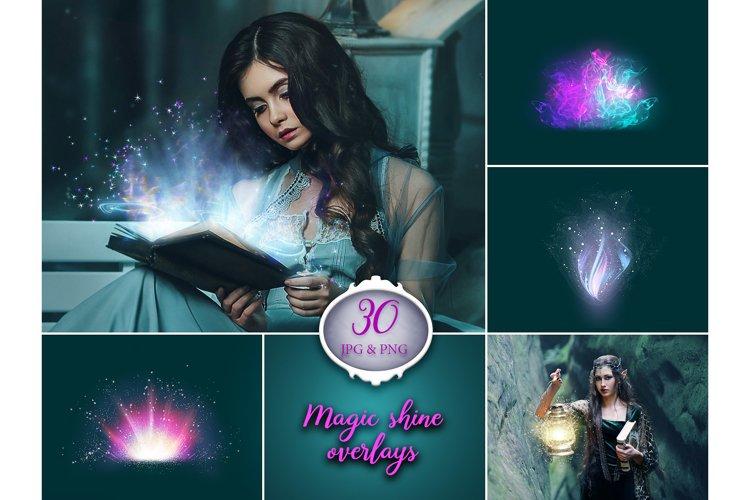 30 Magic Shine Photo Overlays example image 1