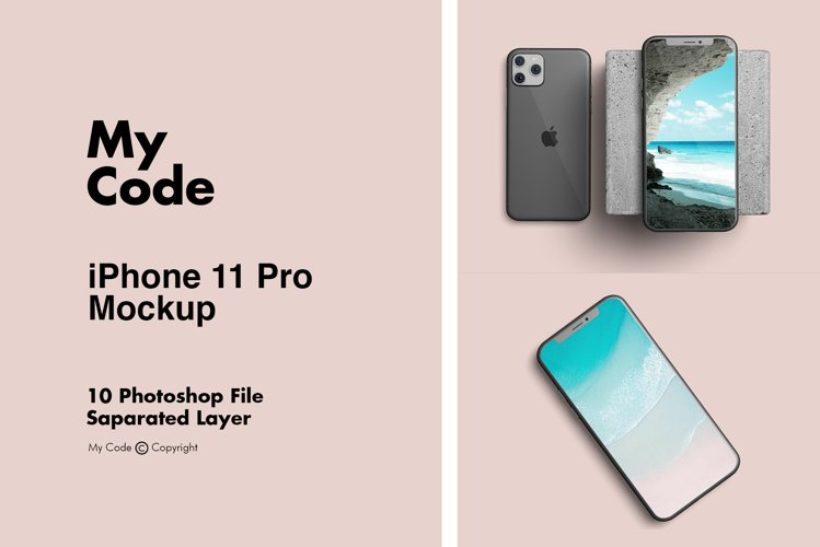 iPhone 11 Pro Mockup example image 1