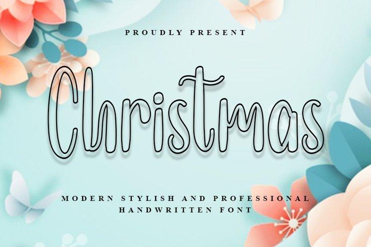 Christmas - Modern Stylish Handwritten Font example image 1