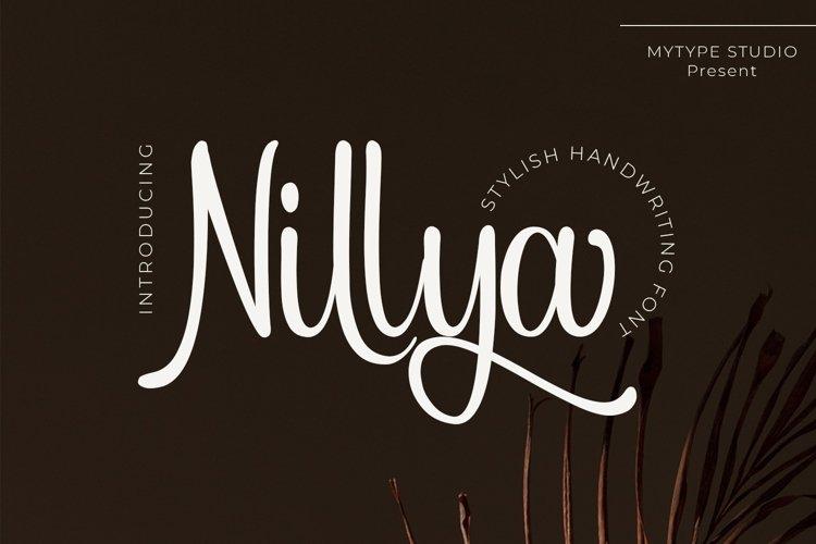 Nillya - Handwriting Font example image 1