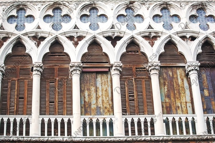 Ancient building with worn facade in Venice, Italy example image 1