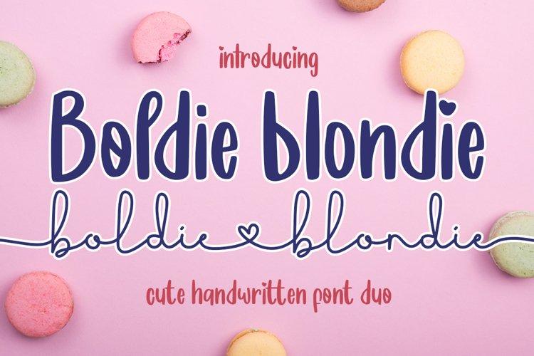 Boldie Blondie Font Duo example image 1