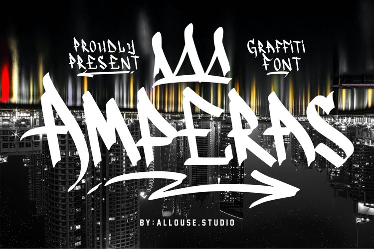 Web Font - Amperas - Graffiti Font example image 1