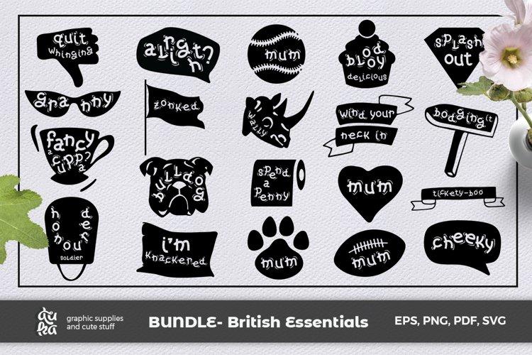 British Essentials SVG Bundle- Vol 1, 20 Funny Designs