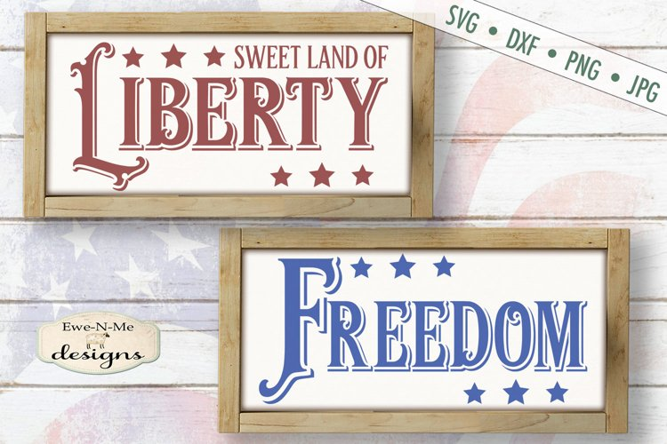 Freedom Liberty | 4th of July | Patriotic SVG Files example image 1