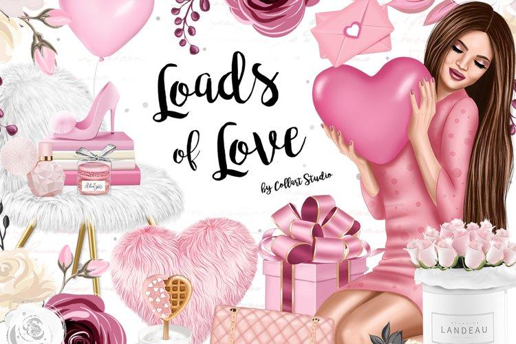 Valentine Day clip art, Romantic illustrations, love sticker