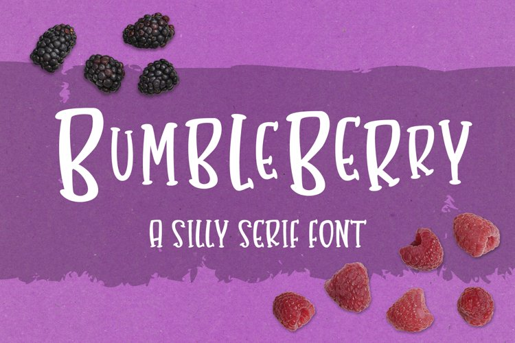 Bumbleberry - a silly serif font example image 1