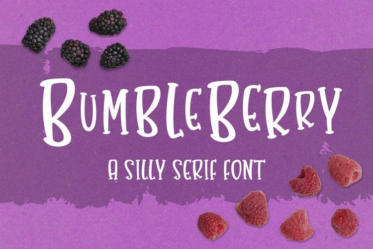 Bumbleberry - a silly serif font