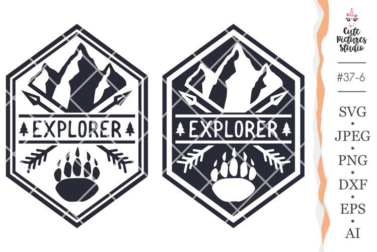 Explorer svg files for cricut, Mountain svg, Journey sticker