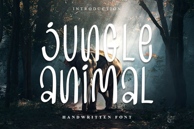 Jungle Animal | Handwritten Font example image 1