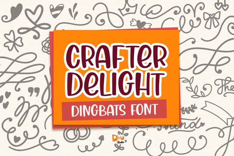 Crafter Delight Dingbats Font example image 1
