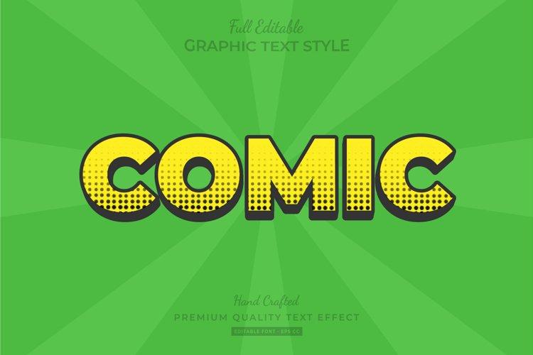 Comic Halftone Editable Text Style Effect Premium example image 1