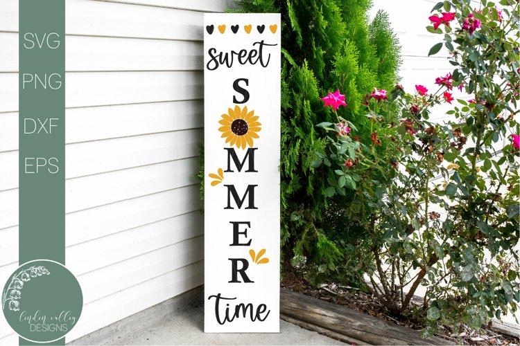 Home Sweet Home Sunflower Svg-Vertical Porch Sign Svg