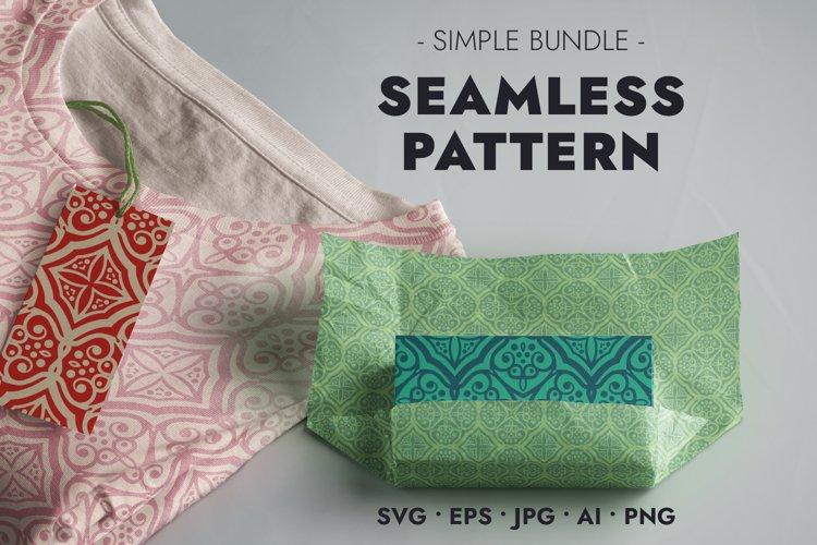 Seamless Pattern - Beautiful Symmetrical Ornament - SVG JPG