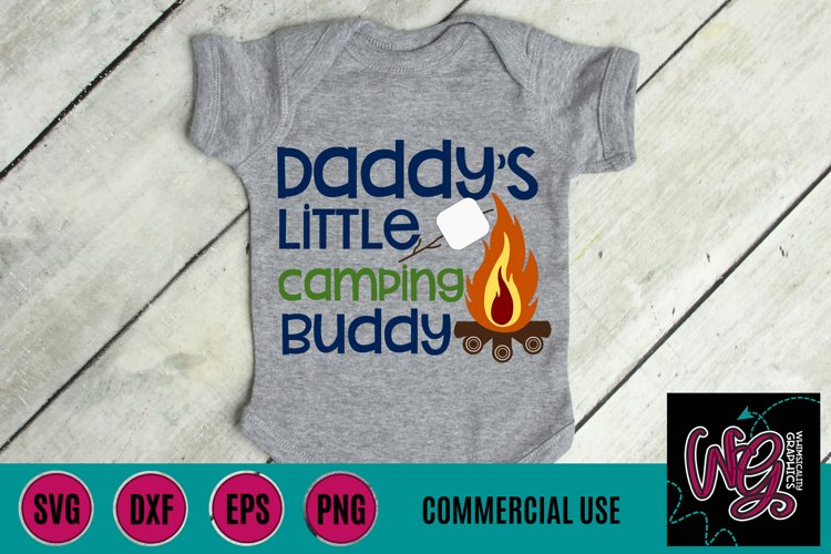 Daddys Little Camping Buddy SVG, DXF, PNG, EPS Comm
