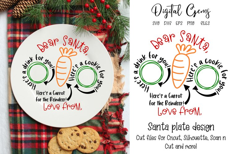 Christmas Plate SVG / PNG / EPS / DXF files example image 1