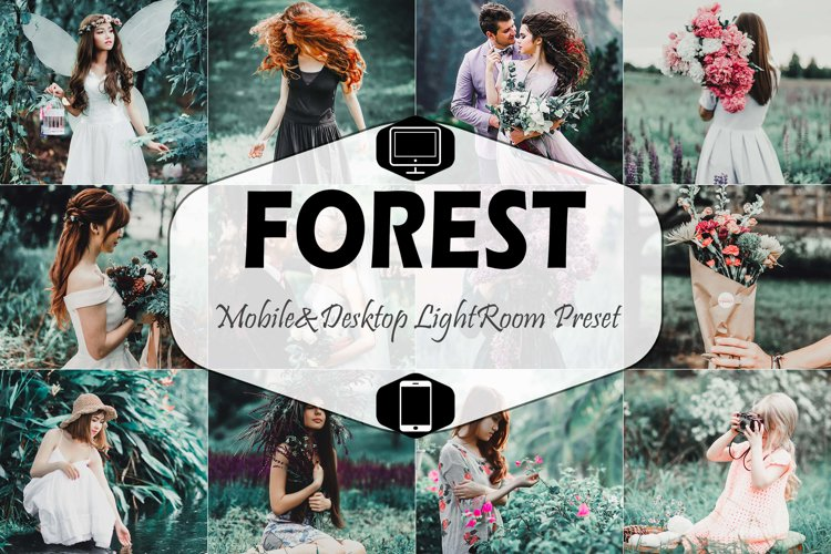Forest Mobile & Desktop Lightroom Presets, Dark Green LR
