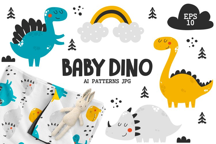 Baby Dinosaurs - Cute Characters example image 1