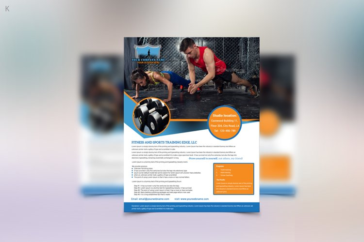 Fitness Training Flyer example image 1