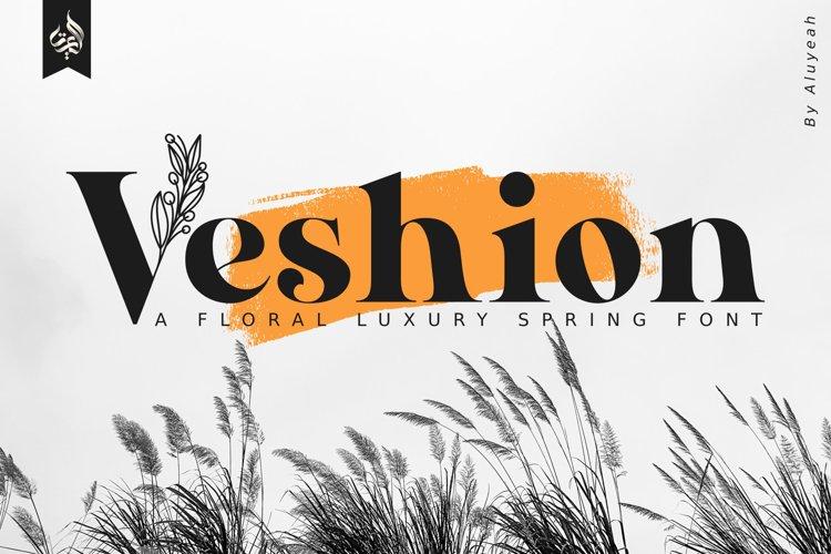 AL Veshion | Floral Spring Font example image 1