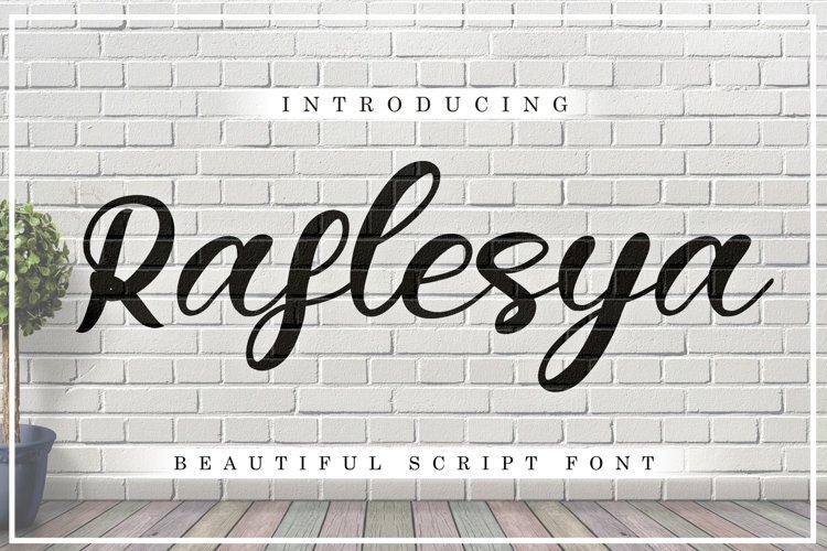 Raflesya modern script example image 1