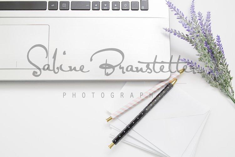 Styled Stock Photography Office Laptop Mockup example image 1