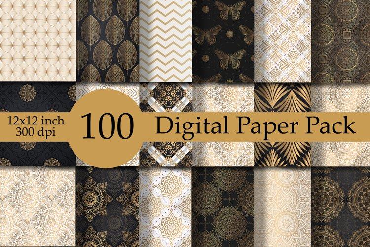Digital Paper Geometric Set of 100