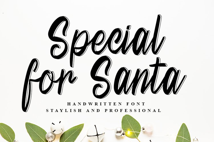 Special For Santa | Beautiful Handwritten Font example image 1