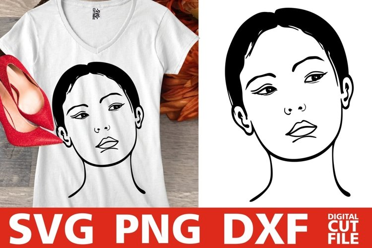 Beauty Asian Woman svg, Japanese svg, Geisha svg, Filipino example image 1